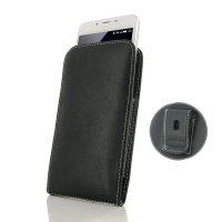 Leather Vertical Pouch Belt Clip Case for MEIZU U10