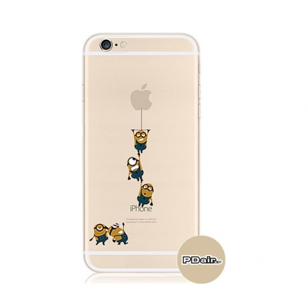 10% OFF + FREE SHIPPING, Buy PDair iPhone Pattern Printed Soft Clear Case Minions Climbing which is available for iPhone 6 | iPhone 6s, iPhone 6 Plus | iPhone 6s Plus, iPhone 5 | iPhone 5s SE You also can go to the customizer to create your own stylish le