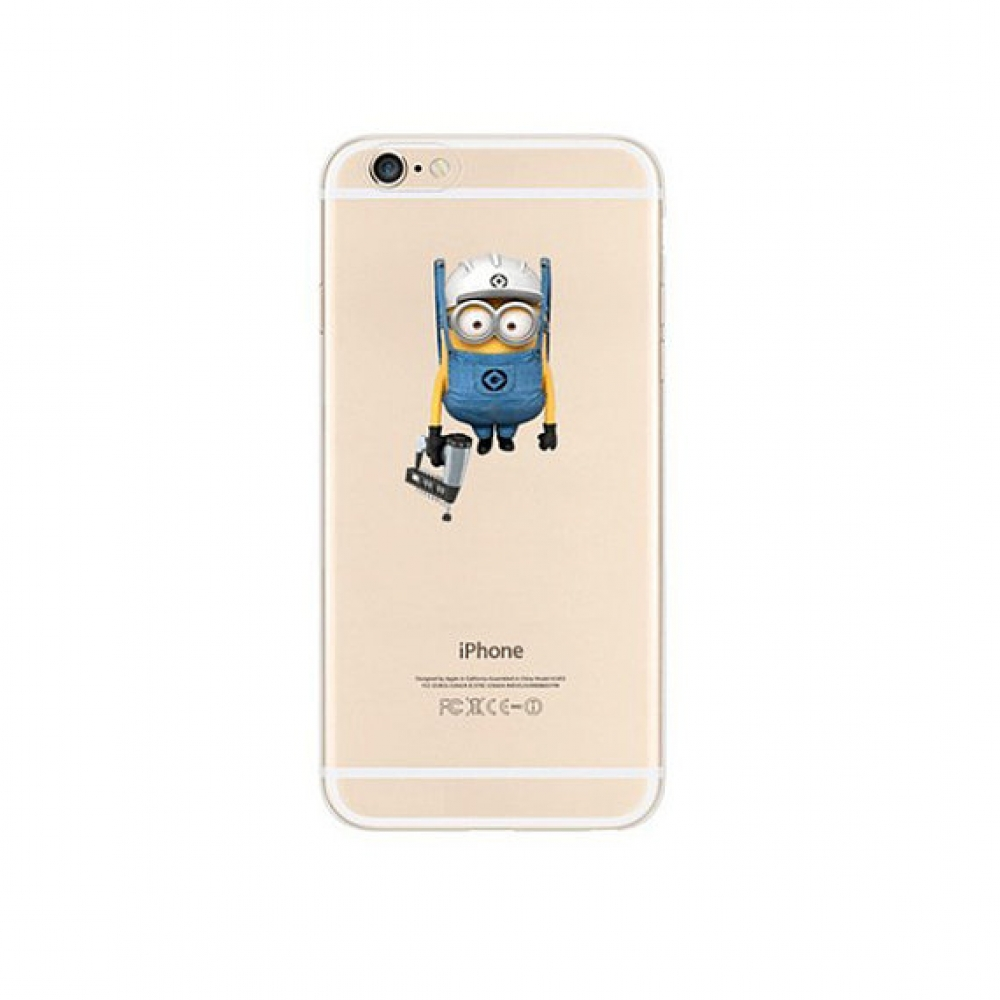 10% OFF + FREE SHIPPING, Buy PDair iPhone Pattern Printed Soft Clear Case Minions Look At You which is available for iPhone 5 | iPhone 5s SE 6 6s, iPhone 6 Plus | iPhone 6s Plus. You also can go to the customizer to create your own stylish leather case if