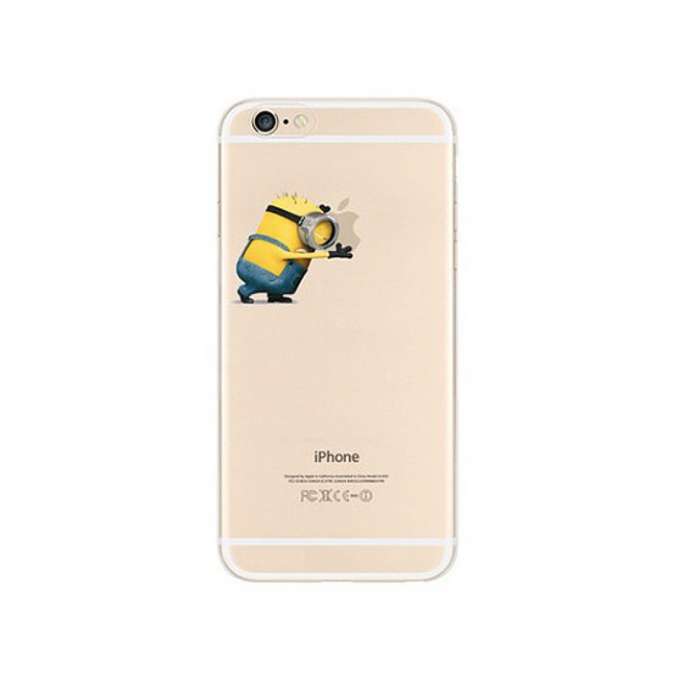 10% OFF + FREE SHIPPING, Buy PDair iPhone Pattern Printed Soft Clear Case (Minions Push Apple) which is available for iPhone 5 | iPhone 5s SE 6 6s, iPhone 6 Plus | iPhone 6s Plus. You also can go to the customizer to create your own stylish leather case i