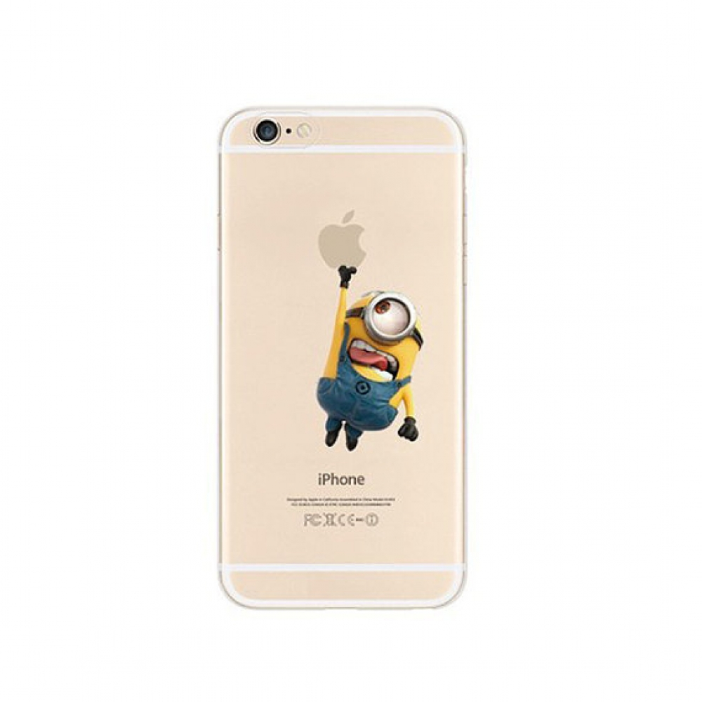 10% OFF + FREE SHIPPING, Buy PDair iPhone Pattern Printed Soft Clear Case Minions Touch Apple which is available for iPhone 5 | iPhone 5s SE 6 6s, iPhone 6 Plus | iPhone 6s Plus. You also can go to the customizer to create your own stylish leather case if
