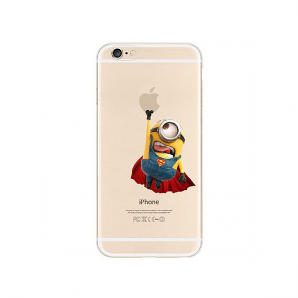 10% OFF + FREE SHIPPING, Buy PDair iPhone Pattern Printed Soft Clear Case (Minions x Superman) which is available for iPhone 5 | iPhone 5s SE 6 6s, iPhone 6 Plus | iPhone 6s Plus. You also can go to the customizer to create your own stylish leather case i