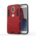 Moto G4 Plus Tough Armor Protective Case (Red) protective carrying case by PDair