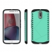 Moto G4 Plus Hybrid Combo Aegis Armor Case Cover (Green) protective carrying case by PDair