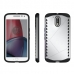 Moto G4 Plus Hybrid Combo Aegis Armor Case Cover (Silver) protective carrying case by PDair