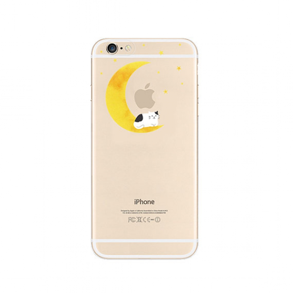 10% OFF + FREE SHIPPING, Buy PDair iPhone Pattern Printed Soft Clear Case (Moon Cat Sleep) which is available for iPhone 6 | iPhone 6s, iPhone 6 Plus | iPhone 6s Plus, iPhone 5 | iPhone 5s SE. You also can go to the customizer to create your own stylish l