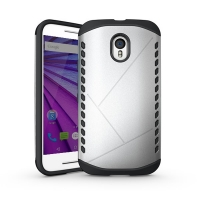 10% OFF + FREE Shipping, Buy Best PDair Premium Protective Moto G 3rd Gen 2015 Hybrid Combo Aegis Armor Case Cover (Silver) online. You also can go to the customizer to create your own stylish leather case if looking for additional colors, patterns and ty