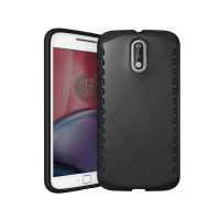 Hybrid Combo Aegis Armor Case Cover for Motorola Moto G4 Plus (Black)