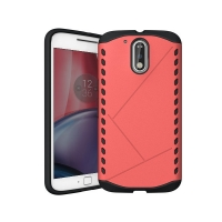 Hybrid Combo Aegis Armor Case Cover for Motorola Moto G4 Plus (Pink)