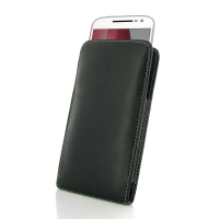 Leather Vertical Pouch Case for Motorola Moto G4 Plus