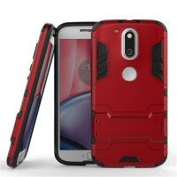 Motorola Moto G4 Plus Tough Armor Protective Case (Red)