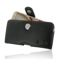 Moto M Leather Holster Case PDair Premium Hadmade Genuine Leather Protective Case Sleeve Wallet