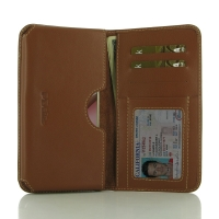 Moto M Leather Wallet Sleeve Case (Brown) PDair Premium Hadmade Genuine Leather Protective Case Sleeve Wallet PDair Premium Hadmade Genuine Leather Protective Case Sleeve Wallet