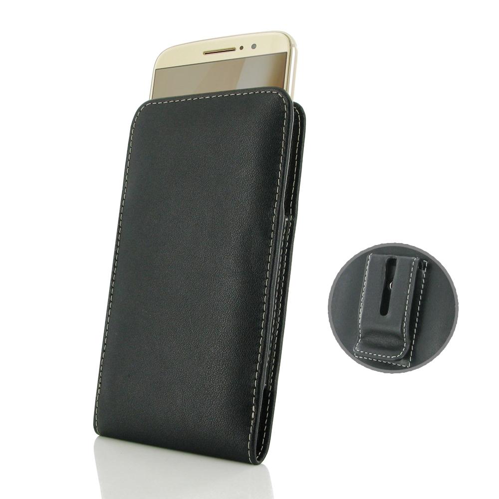 online store 7860e 63f45 Leather Vertical Pouch Belt Clip Case for Motorola Moto M
