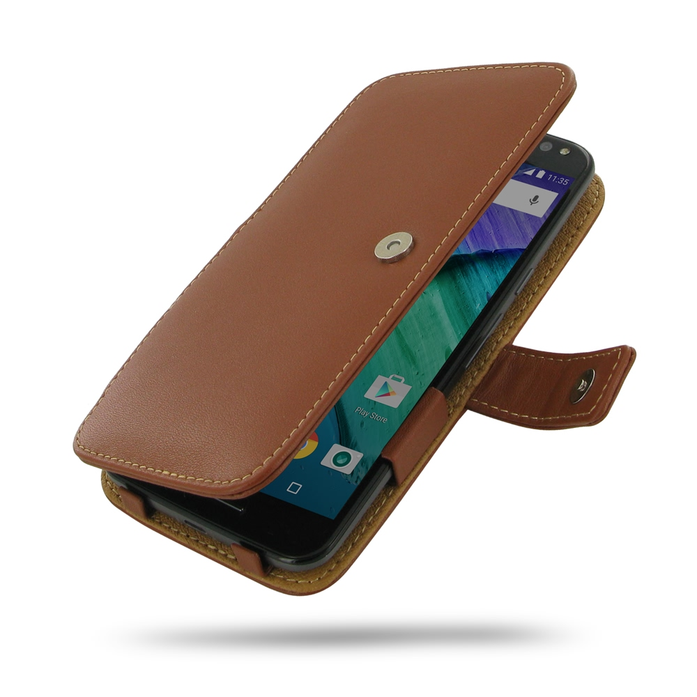10% OFF + FREE SHIPPING, Buy Best PDair Quality Handmade Protective Moto X Style / Pure Edition Genuine Leather Flip Cover (Brown) online. You also can go to the customizer to create your own stylish leather case if looking for additional colors, patterns