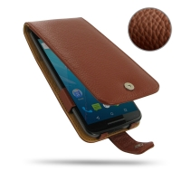 10% OFF + FREE SHIPPING, Buy PDair Handmade Protective Moto X Style / Pure Edition Genuine Leather Flip Wallet Case (Brown Pebble Genuine Leather)  You also can go to the customizer to create your own stylish leather case if looking for additional colors,
