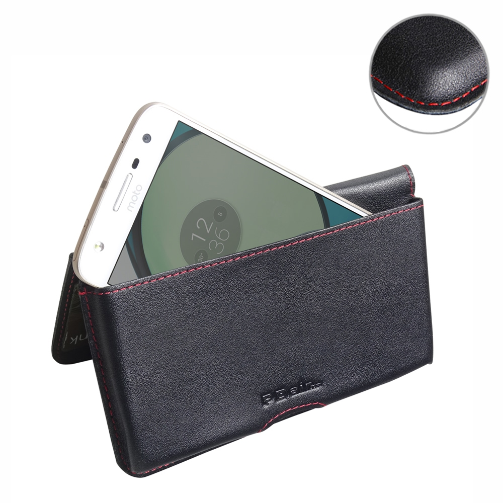 10% OFF + FREE SHIPPING, Buy Best PDair Quality Handmade Protective Moto Z Play Genuine Leather Wallet Pouch Case (Red Stitch) online. You also can go to the customizer to create your own stylish leather case if looking for additional colors, patterns and