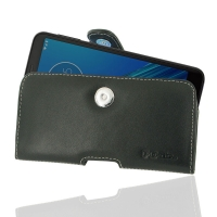 Leather Horizontal Pouch Case with Belt Clip for Motorola Moto E6