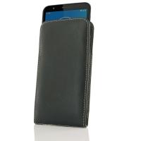 Leather Vertical Pouch Case for Motorola Moto E6