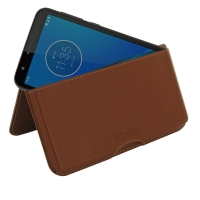 10% OFF + FREE SHIPPING, Buy the BEST PDair Handcrafted Premium Protective Carrying Motorola Moto E6 Leather Wallet Pouch Case (Brown). Exquisitely designed engineered for Motorola Moto E6.