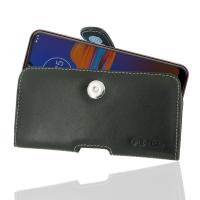Leather Horizontal Pouch Case with Belt Clip for Motorola Moto E6 Plus | Moto E6s