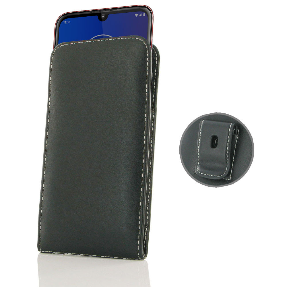 10% OFF + FREE SHIPPING, Buy the BEST PDair Handcrafted Premium Protective Carrying Motorola Moto E6 Plus Pouch Case with Belt Clip. Exquisitely designed engineered for Motorola Moto E6 Plus.