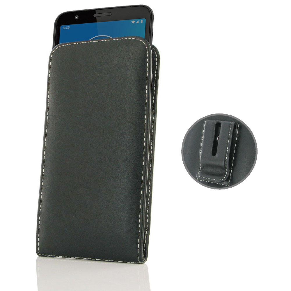10% OFF + FREE SHIPPING, Buy the BEST PDair Handcrafted Premium Protective Carrying Motorola Moto E6 Pouch Case with Belt Clip. Exquisitely designed engineered for Motorola Moto E6.