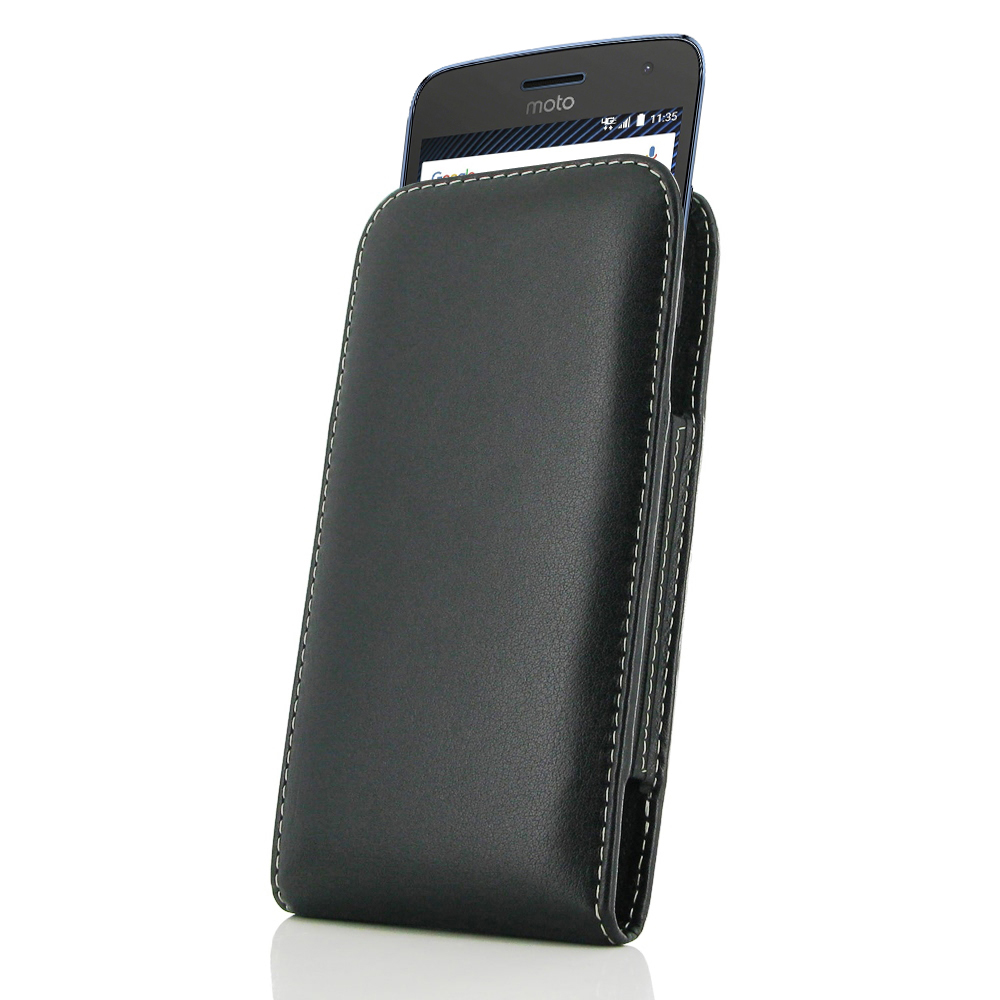 purchase cheap b7850 a9055 Leather Vertical Pouch Case for Motorola Moto G5 Plus