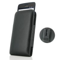 Leather Vertical Pouch Belt Clip Case for Motorola Moto G5 Plus