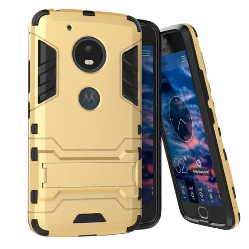 sale retailer 74bb0 9f569 Motorola Moto G5 Plus Tough Armor Protective Case (Gold)