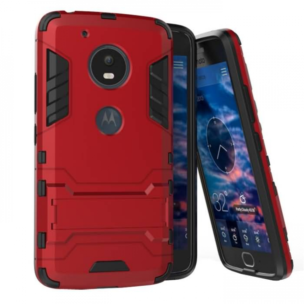 new arrival c853c 9d479 Motorola Moto G5 Plus Tough Armor Protective Case (Red)