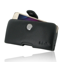 Leather Horizontal Pouch Case with Belt Clip for Motorola Moto G5S