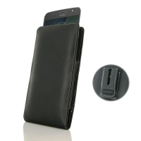 Leather Vertical Pouch Belt Clip Case for Motorola Moto G5S Plus