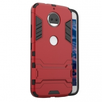 Motorola Moto G5S Plus Tough Armor Protective Case (Red)