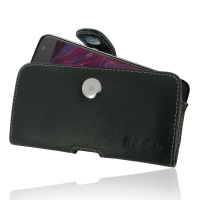 Leather Horizontal Pouch Case with Belt Clip for Motorola Moto X4 | Moto X (4th gen.)