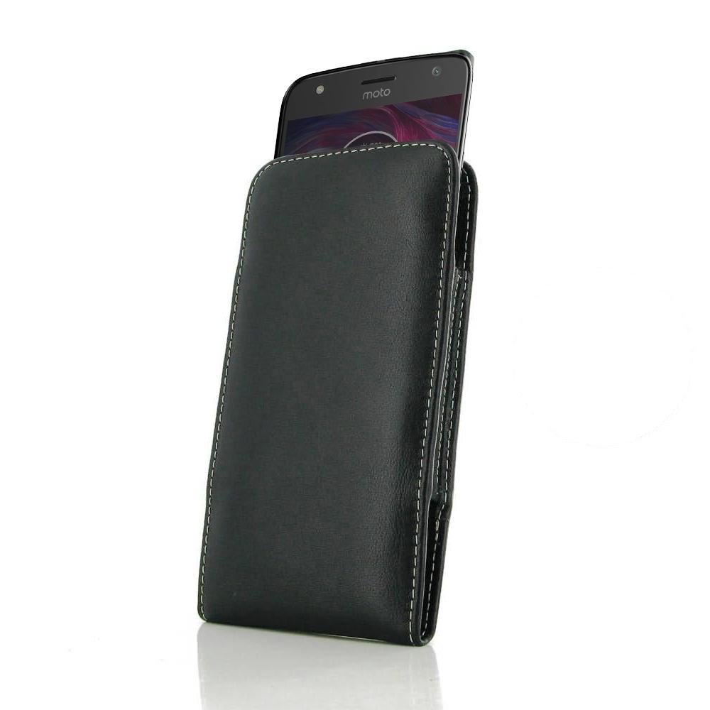 best service 2da79 f8d1a Leather Vertical Pouch Case for Motorola Moto X4 | Moto X (4th gen.)