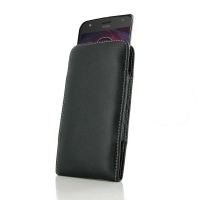Leather Vertical Pouch Case for Motorola Moto X4 | Moto X (4th gen.)