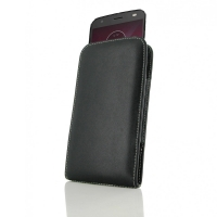 Leather Vertical Pouch Case for Motorola Moto Z2 Force