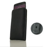 Leather Vertical Pouch Belt Clip Case for Motorola Moto Z2 Play | Moto Z Play(2nd gen.)