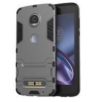 Motorola Moto Z2 Play Tough Armor Protective Case (Grey)