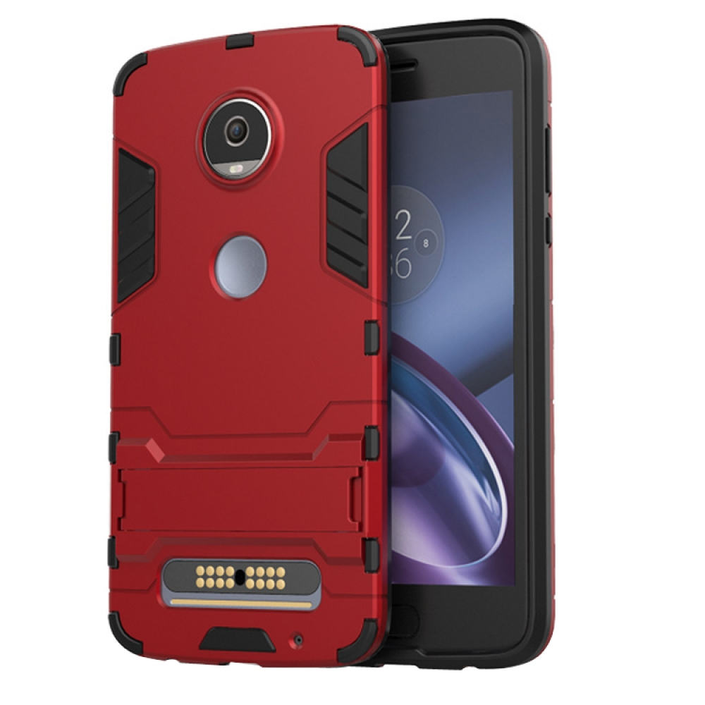 hot sale online c6c9e 51392 Motorola Moto Z2 Play Tough Armor Protective Case (Red)