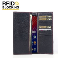 10% OFF + FREE SHIPPING, Buy the BEST PDair Handcrafted Premium Protective Carrying Motorola Moto Z4 Leather Continental Sleeve Wallet (Red Stitching). Exquisitely designed engineered for Motorola Moto Z4.