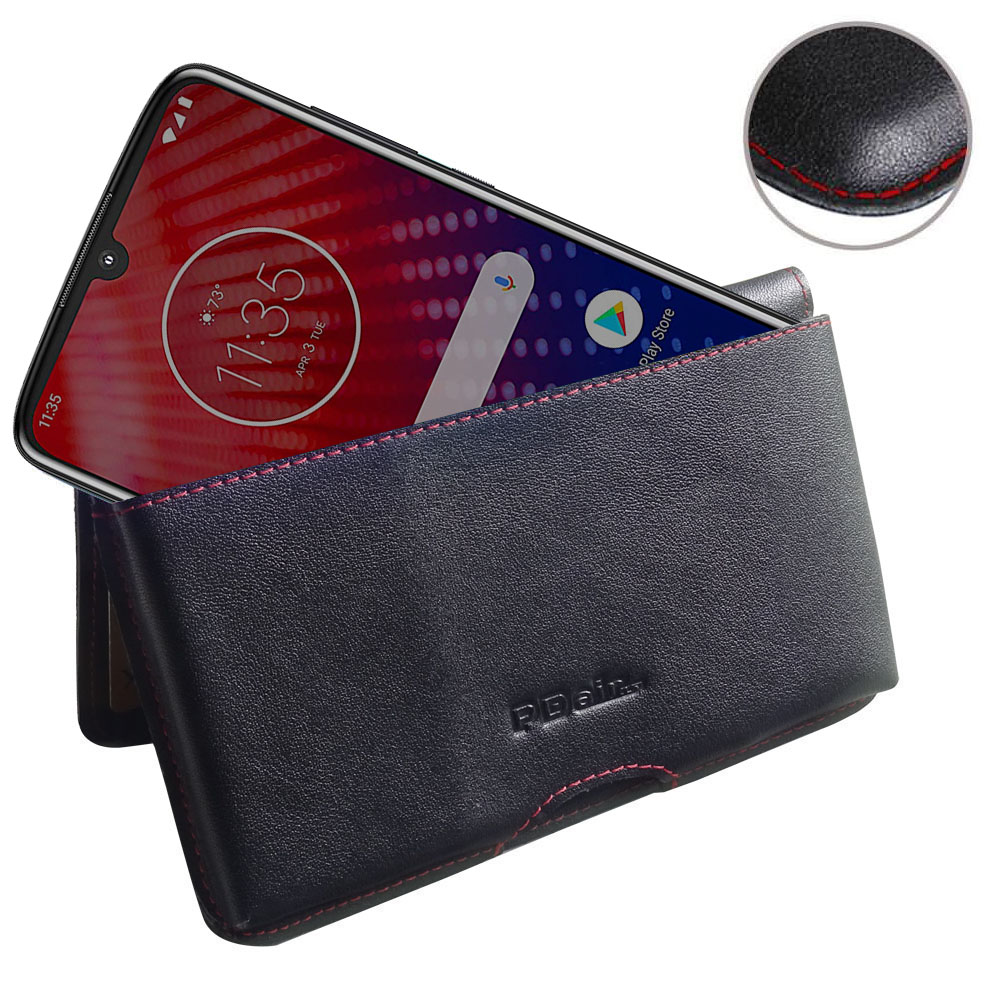 10% OFF + FREE SHIPPING, Buy the BEST PDair Handcrafted Premium Protective Carrying Motorola Moto Z4 Leather Wallet Pouch Case (Red Stitch). Exquisitely designed engineered for Motorola Moto Z4.