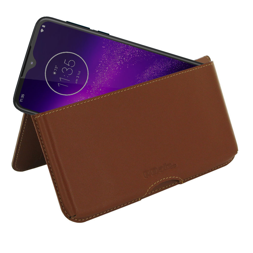 10% OFF + FREE SHIPPING, Buy the BEST PDair Handcrafted Premium Protective Carrying Motorola One Macro Leather Wallet Pouch Case (Brown). Exquisitely designed engineered for Motorola One Macro.