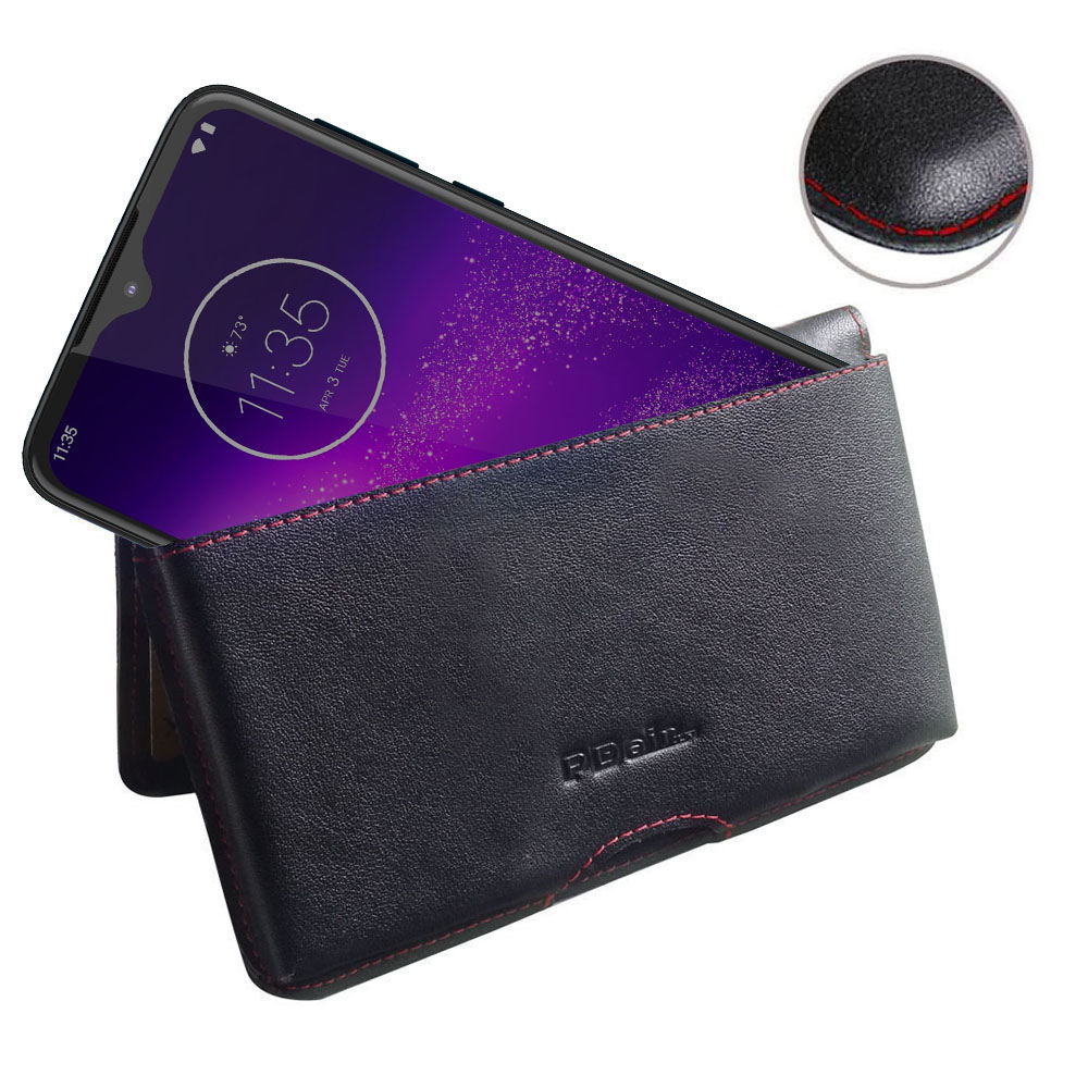 10% OFF + FREE SHIPPING, Buy the BEST PDair Handcrafted Premium Protective Carrying Motorola One Macro Leather Wallet Pouch Case (Red Stitch). Exquisitely designed engineered for Motorola One Macro.