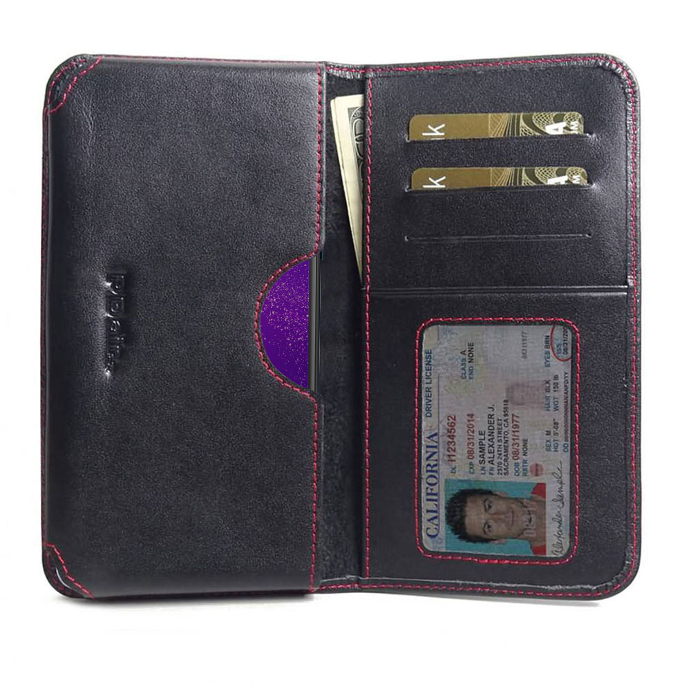 10% OFF + FREE SHIPPING, Buy the BEST PDair Handcrafted Premium Protective Carrying Motorola One Macro Leather Wallet Sleeve Case (Red Stitch). Exquisitely designed engineered for Motorola One Macro.