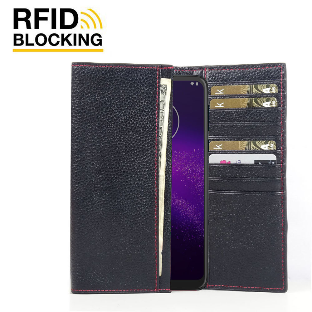 10% OFF + FREE SHIPPING, Buy the BEST PDair Handcrafted Premium Protective Carrying Motorola One Macro Leather Continental Sleeve Wallet (Red Stitching). Exquisitely designed engineered for Motorola One Macro.