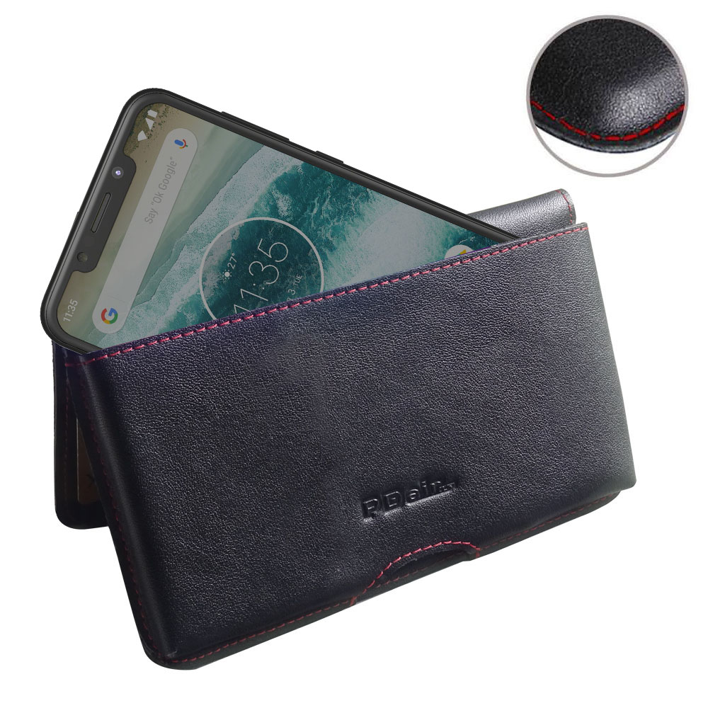 10% OFF + FREE SHIPPING, Buy the BEST PDair Handcrafted Premium Protective Carrying Motorola One | P30 Play Leather Wallet Pouch Case (Red Stitch). Exquisitely designed engineered for Motorola One | P30 Play.