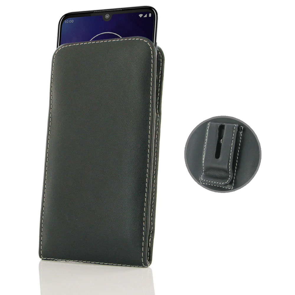 10% OFF + FREE SHIPPING, Buy the BEST PDair Handcrafted Premium Protective Carrying Motorola One Zoom Pouch Case with Belt Clip. Exquisitely designed engineered for Motorola One Zoom.