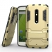 Moto X Play Tough Armor Protective Case (Gold) protective carrying case by PDair